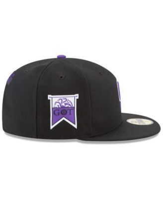 new arrival a1da1 68069 New Era Colorado Rockies Game of Thrones 59FIFTY Fitted Cap - Black 7 1 2