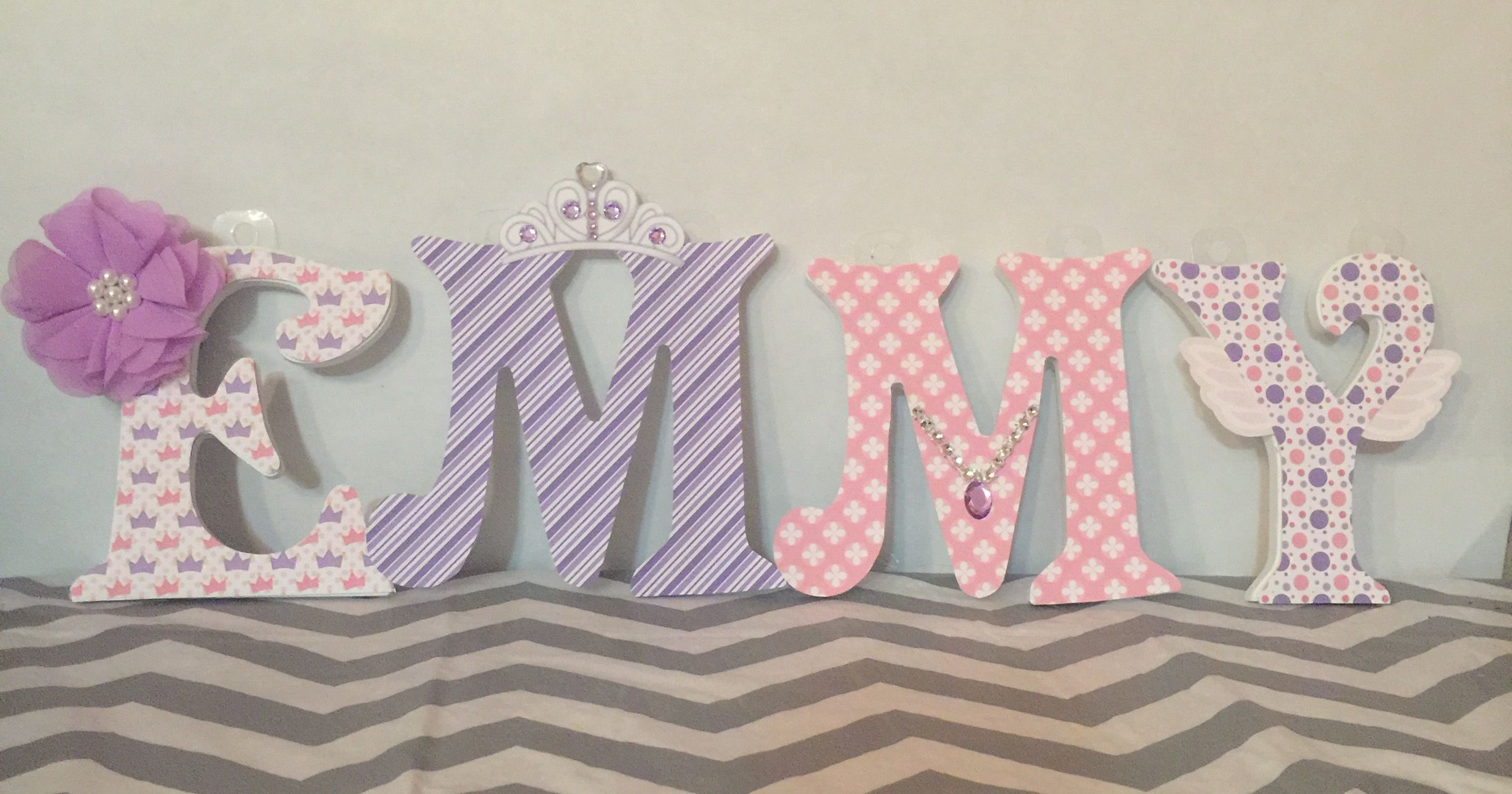 Sofia The First Inspired Wall Letters