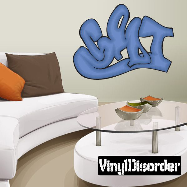 Graffiti Wall Decal Vinyl Sticker Car Sticker Die Cut - Custom die cut vinyl wall decals