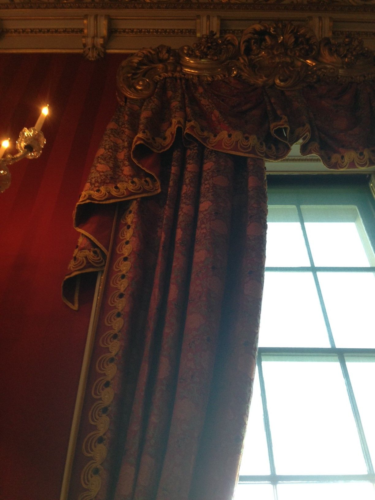 Chatsworth House Private Area: State Room Curtains, Chatsworth House. Pure Silk Tissue On