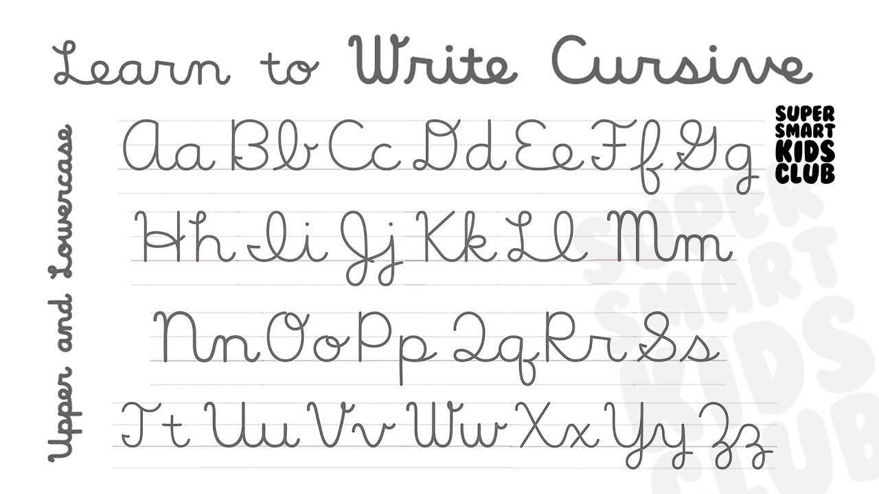 Cursive Letters Lowercase And Uppercase A Z. Feels free to ...