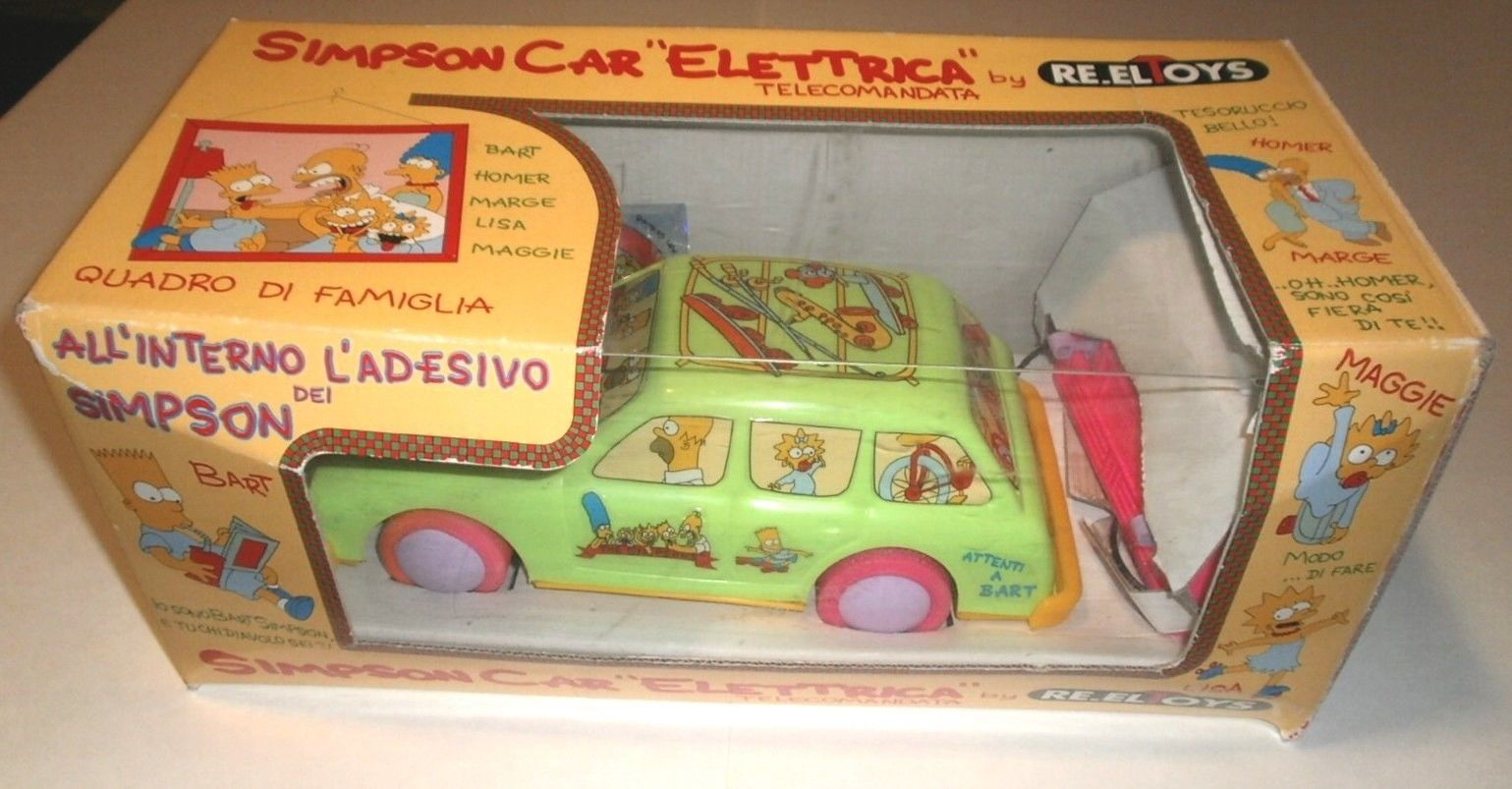 "The Simpsons Electric Toy RC Car ""Elettrica"" re Eltoys"