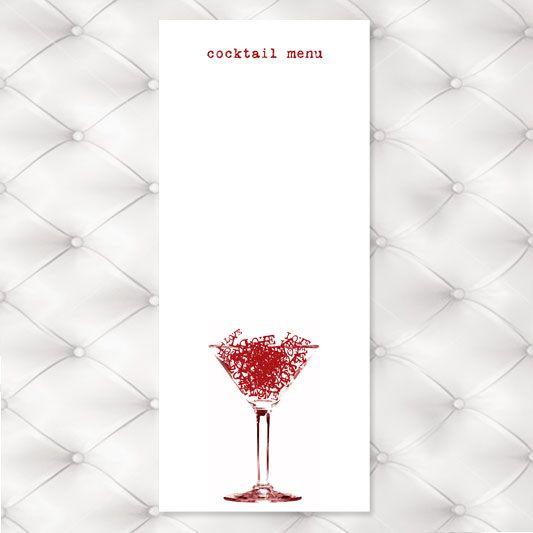 Free Cocktail Menu Template Cocktail Menu Menu Template