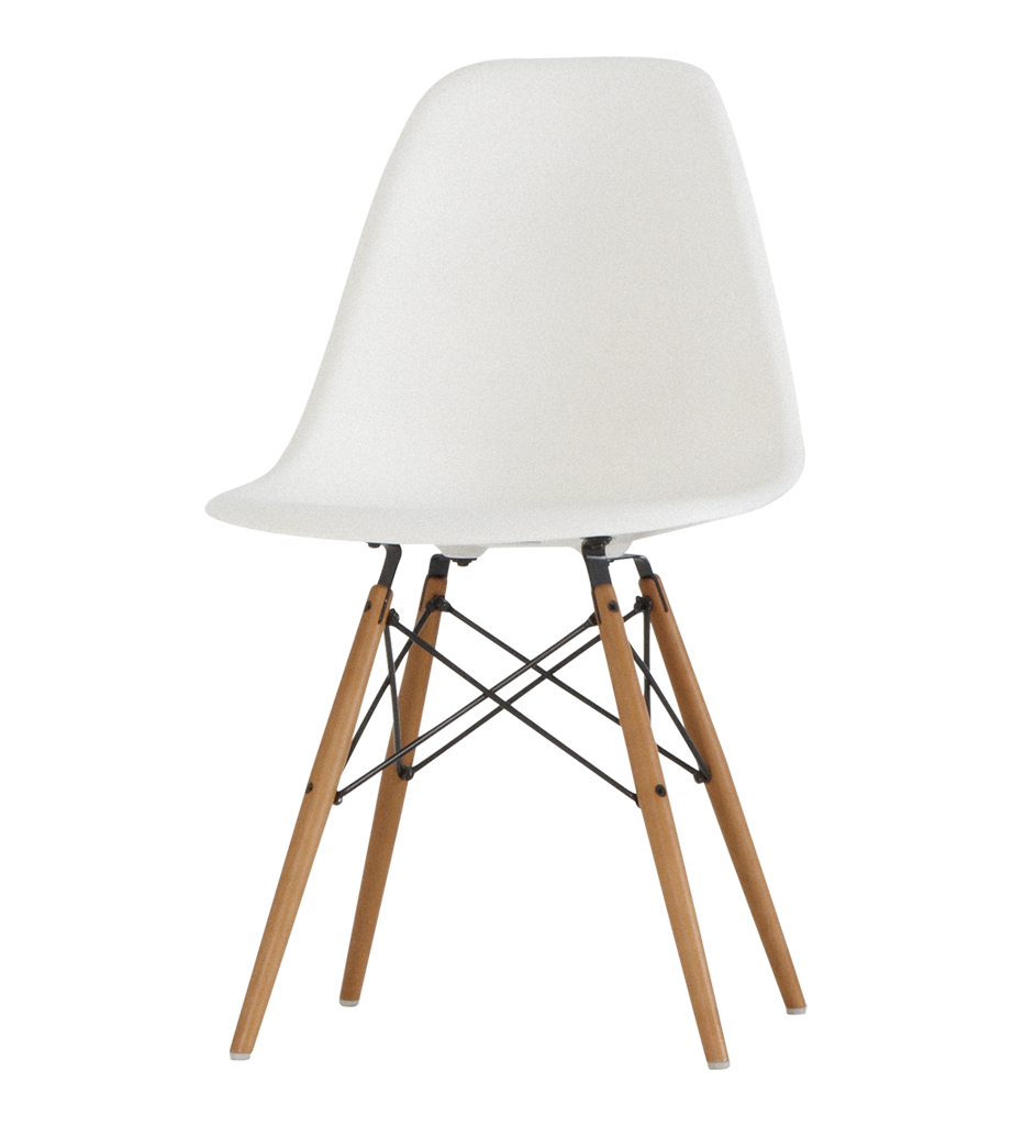 Eames Eiffel Eames Dsw Chair White With Maple Base Chairs Chairs Stools