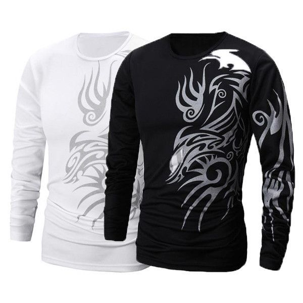 Mens Casual Slim Fit Long Sleeve Tattoo Design T Shirt Tops Sports Men S Long Sleeve T Shirt Long Sleeve Tshirt Men Mens Tshirts
