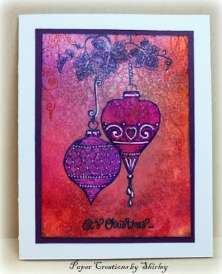 Paper Creations by Shirley: Orange and Pink Christmas with Chocolate Baroque