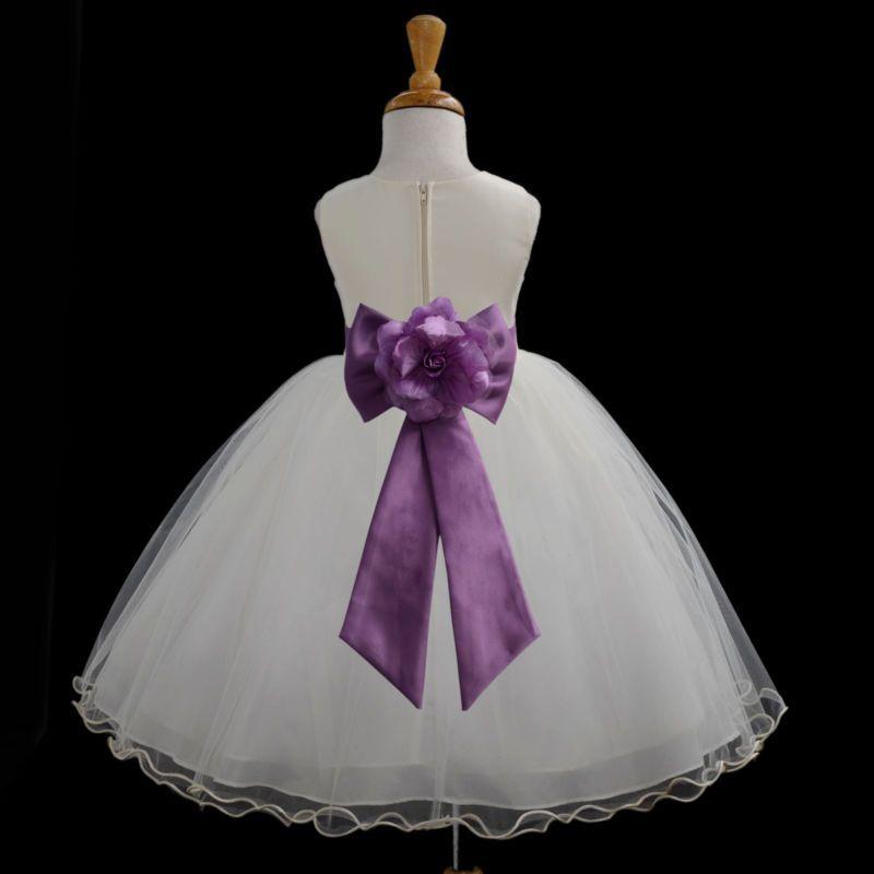 Vestido de Boda Marfil Vestido Niña con concurso niños 1 2 3 4 5 6 7 8 9 10 11 12 13 #528a