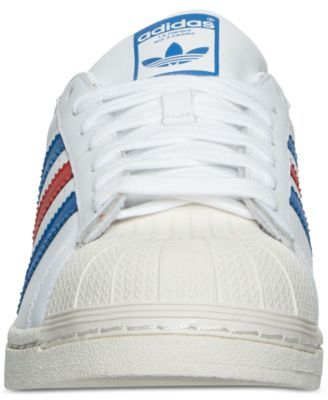 adidas Men's Superstar Casual Sneakers from Finish Line - White 10.5
