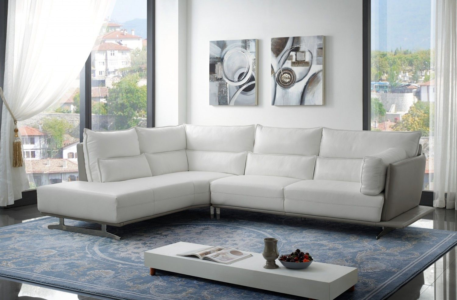 Adeline Modern Sectional Creative Furniture Leather Sectional