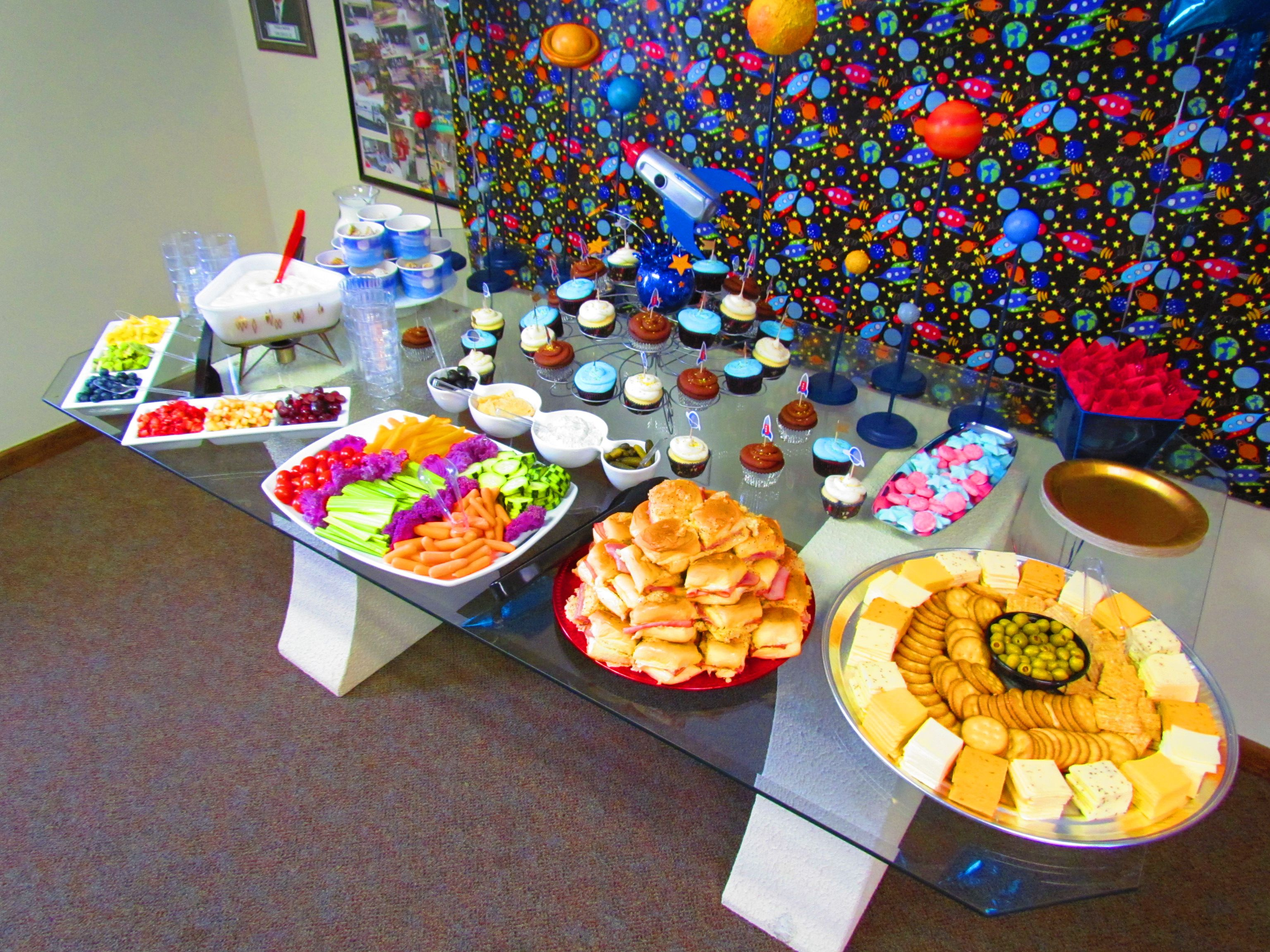 outer space themed baby shower food table baby shower pinterest