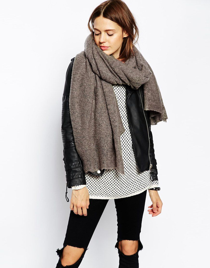 How to oversized an wear knit scarf best photo