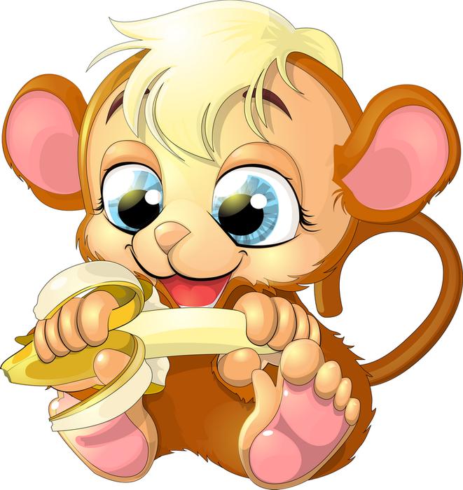Лет, смешные нарисованные картинки обезьян