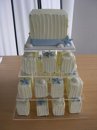 Beach Mini Cakes by sugar_rush_confections, via Flickr