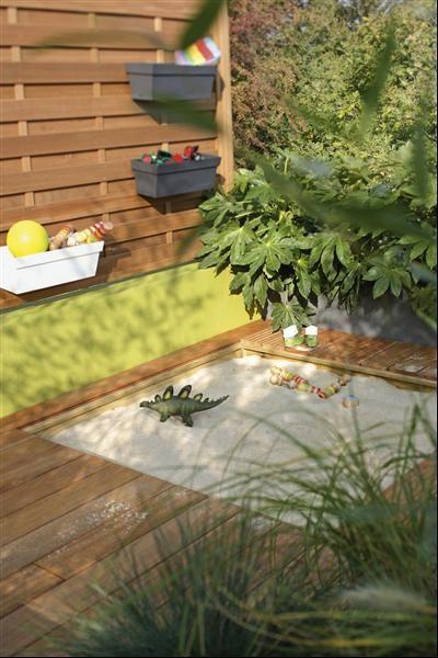 Un Bac à Sable Enterré Très Discret Jardin Terrasse
