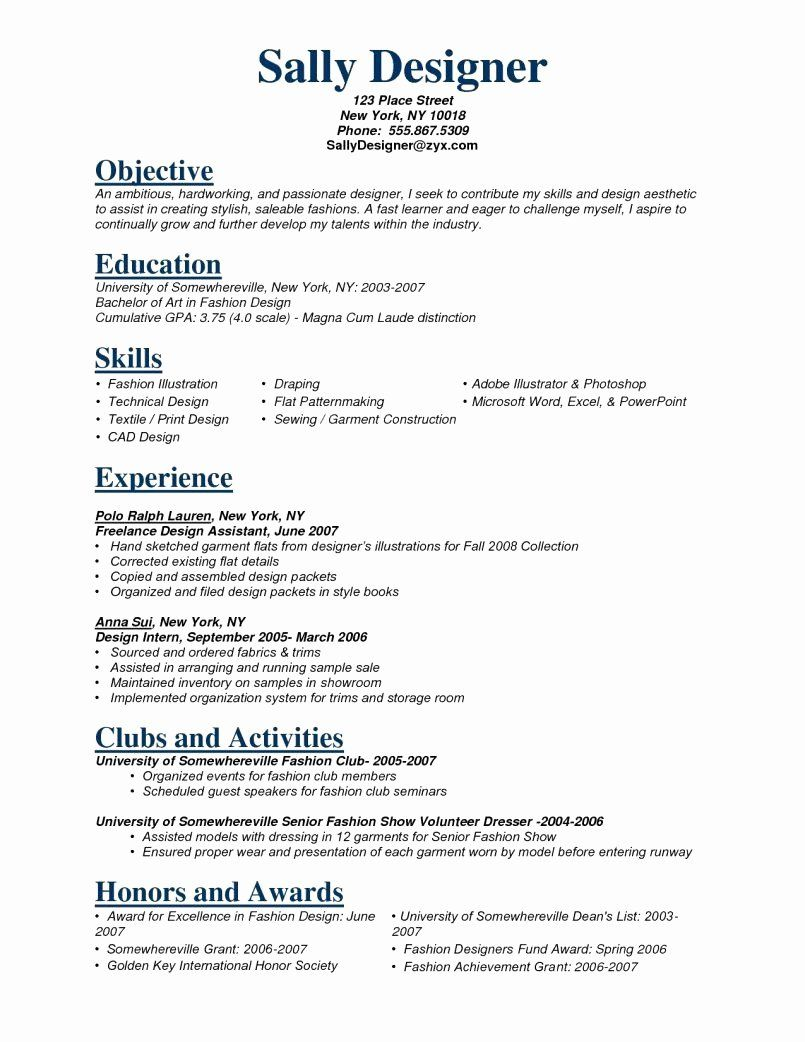 Retail Job Description Resume Best Of 12 13 Senior Sales Associate Resume In 2020 Fashion Stylist Resume Fashion Resume Fashion Designer Resume