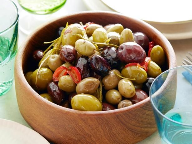 Spicy roasted olives recipe food recipes and tyler florence christmas appetizers get spicy roasted olives recipe from food network forumfinder Choice Image