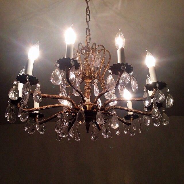 chandelier that hangs in the master bedroom in our home