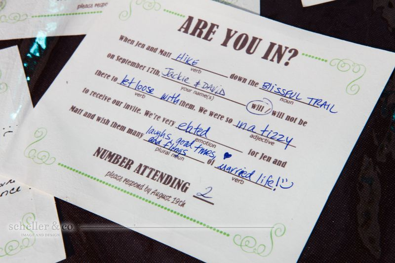 Mad Lib Rsvp Cards And Photos From A Beautiful Wedding By My Friend Dana Scheller