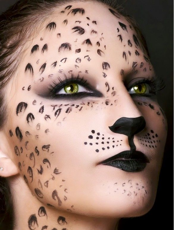 9 Different Cat Halloween Costumes That Aren\u0027t Basic Cheetah face - face painting halloween makeup ideas