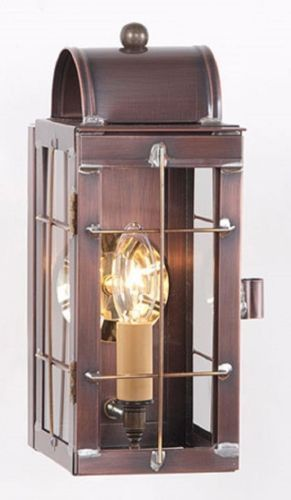 Colonial Lantern Wall Sconce Rustic Antique Copper Handcrafted In Usa Rustic Wall Sconces Colonial Lantern Wall Lantern
