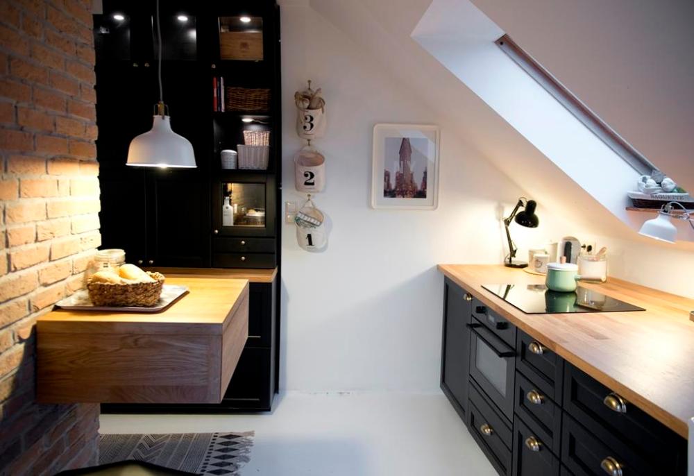 Galeria Zdjec Planujemy Mala Kuchnie Galeria Inspiracji Zdjecie Nr 3 Urzadzamy Pl Attic House Attic Storage Attic Design