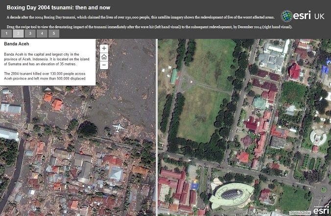 The 2004 Tsunami Then And Now Google Earth Blog Tsunami Imagery Google Earth