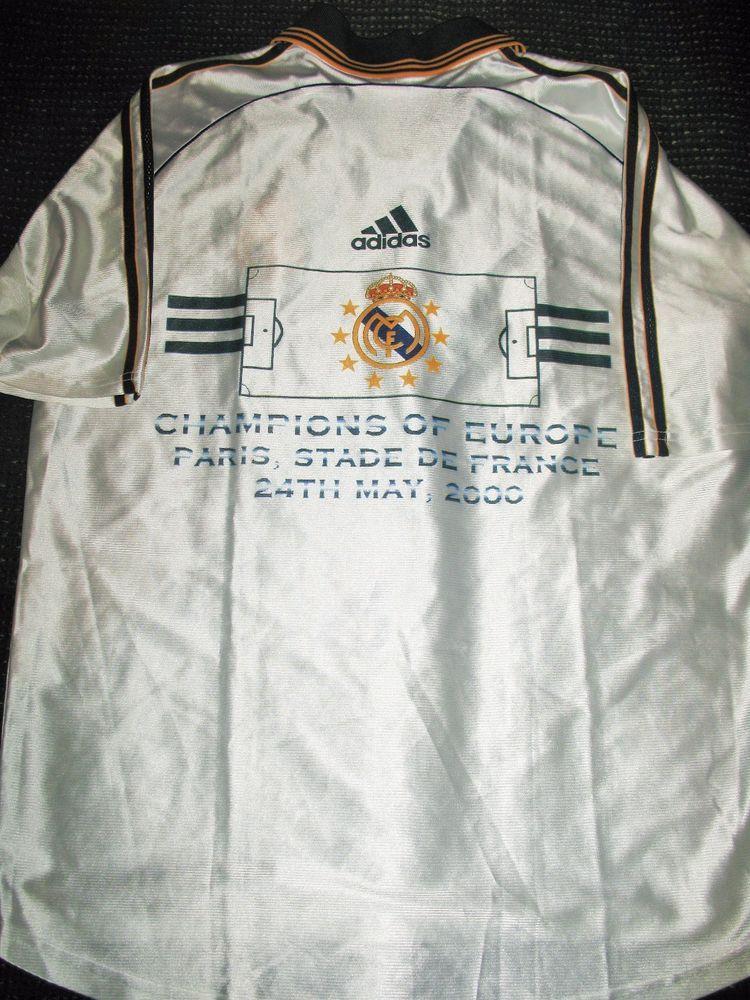 b69628b3964 Authentic Real Madrid UEFA CL CHAMPIONS 1999 2000 Jersey Teka Camiseta  Shirt L (eBay Link)