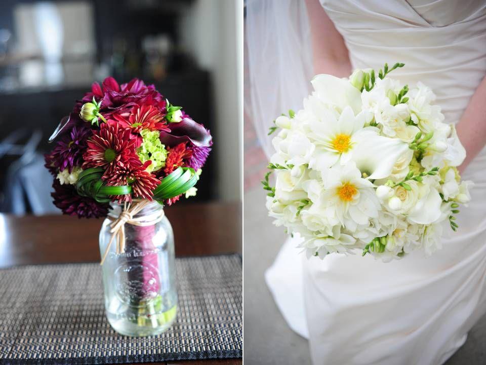 Fall Wedding Diy Flowers Gerbera Daisies White Bridal Bouquet 28
