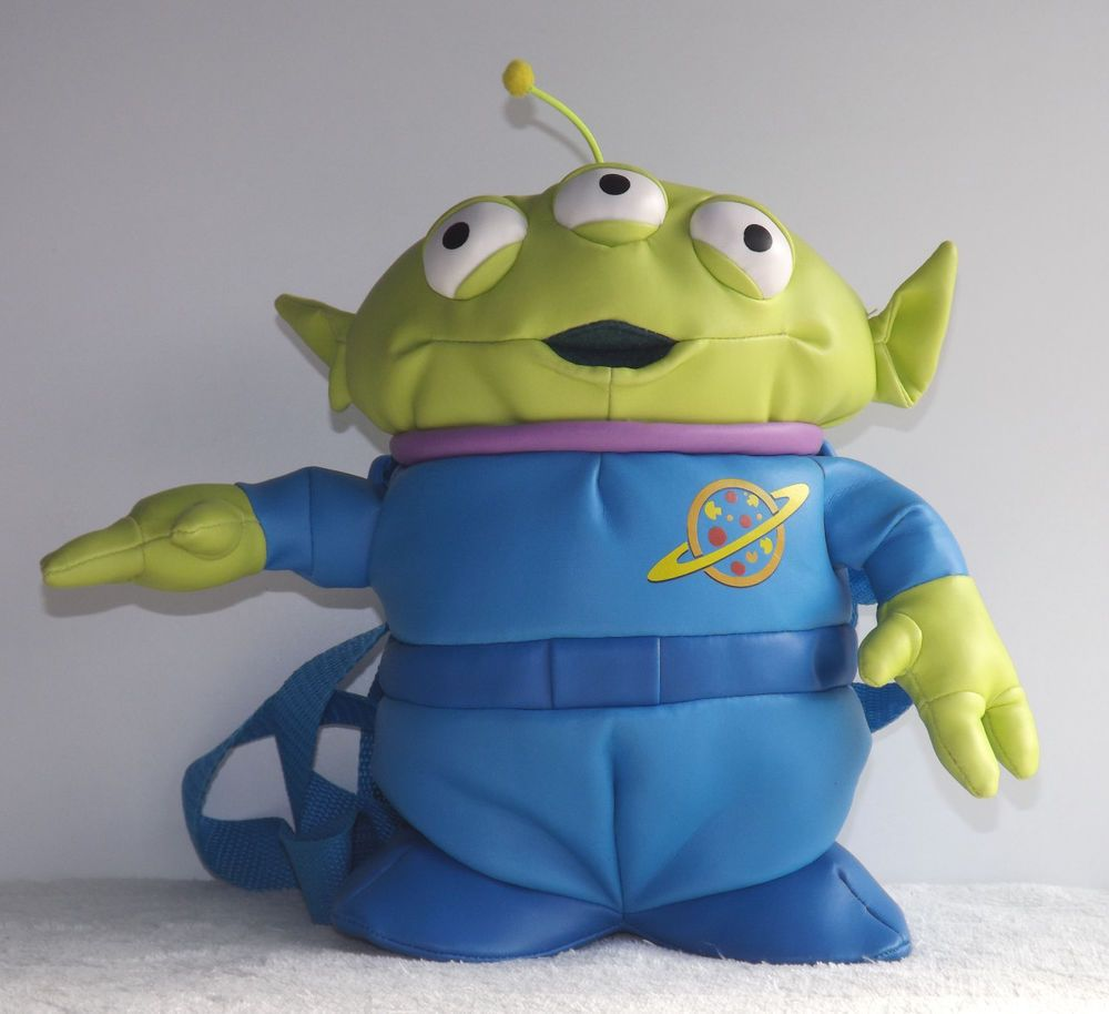 Disney Toys For Boys : Rare original disney toy story backpack squeeze alien