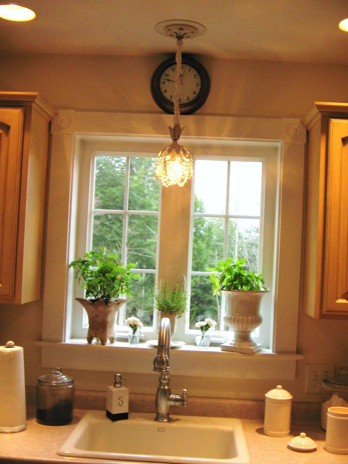 Window above kitchen sink  vanity light above kitchen sink  sinhvienthienan