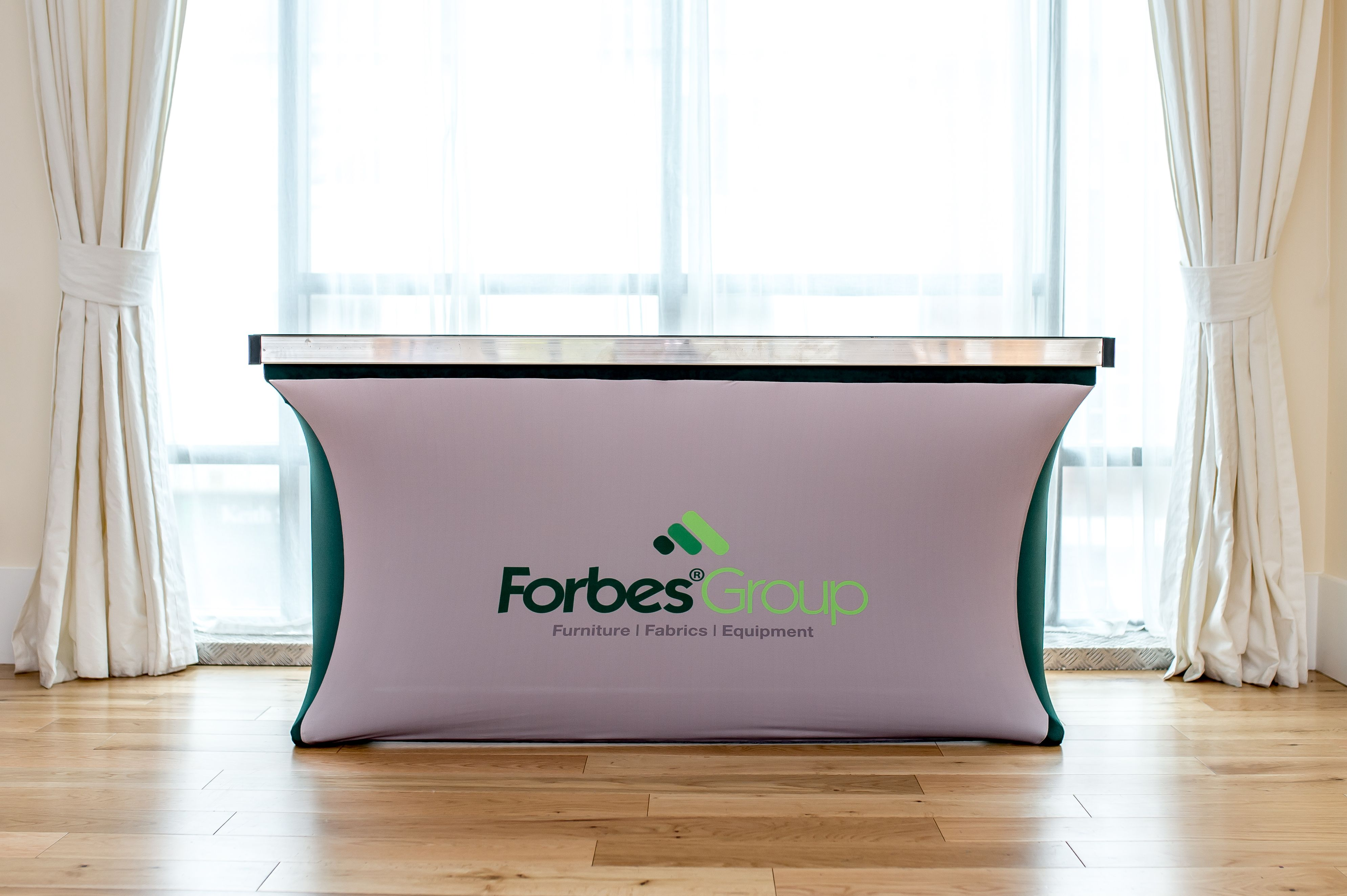 Stretch Table Cover Tables Take On A Modern Sculpted Look With Our - Conference table skirts