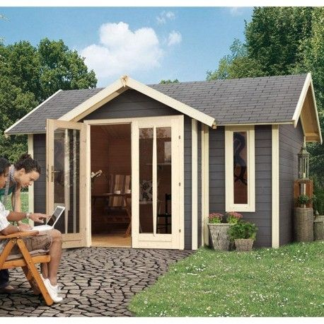 Abri de jardin en bois moderne. http://www.m-habitat.fr/abri-de ...