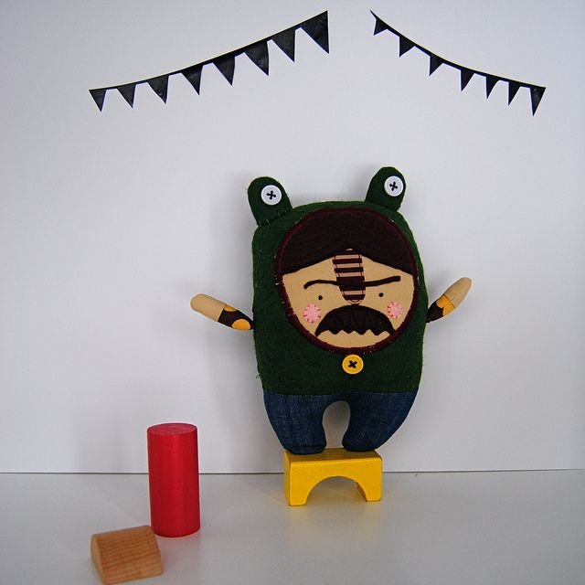 Mr. Grumpy in a Frog Suit by nichol-b, via Flickr
