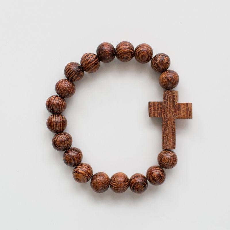 Wooden Cross Bracelet This 7