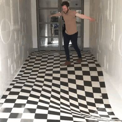 Photo of Genius Optical Illusion On This Floor Stops People From Running In The Hallway
