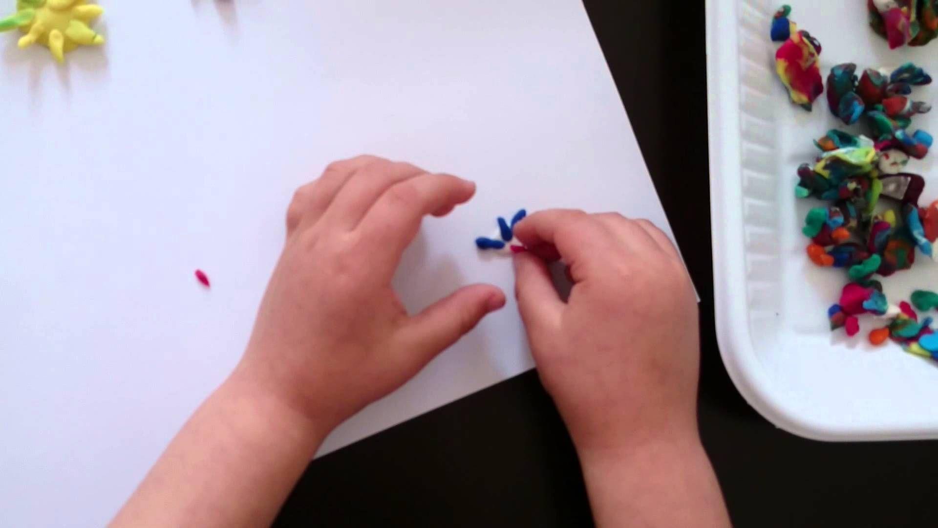 Квіточка з пластиліну / Making of play dough flower