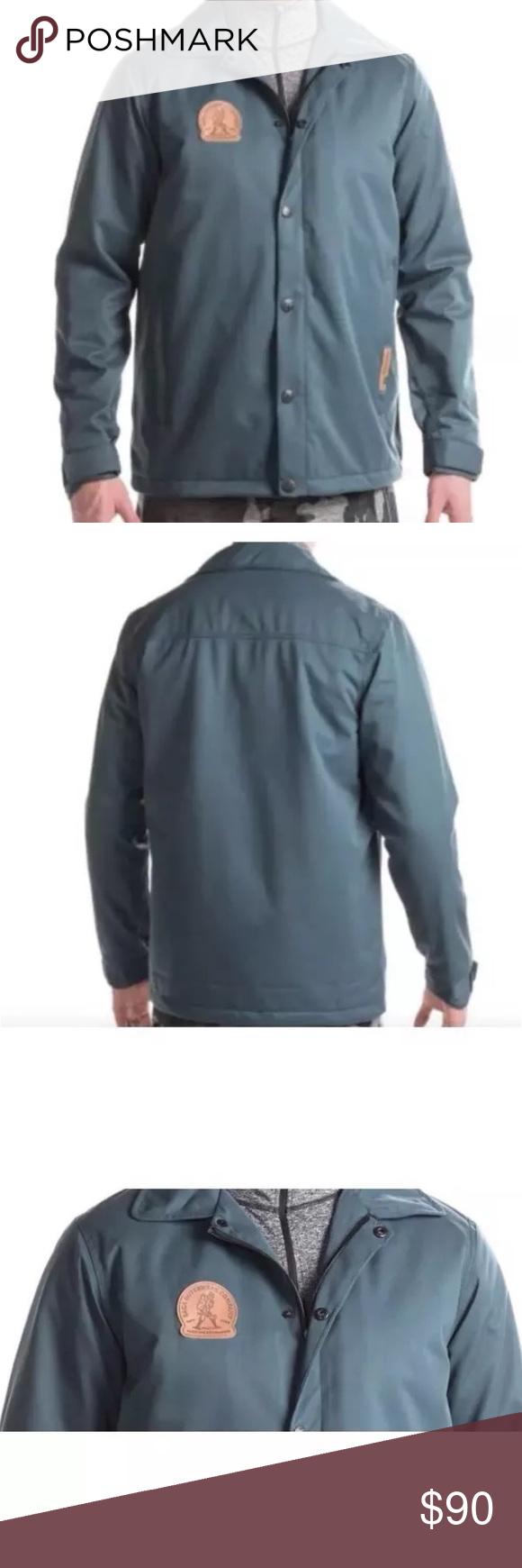 Saga Blue Waterproof Insulated Team Jacket Team Jackets Waterproof Breathable Fabric Jackets [ 1740 x 580 Pixel ]