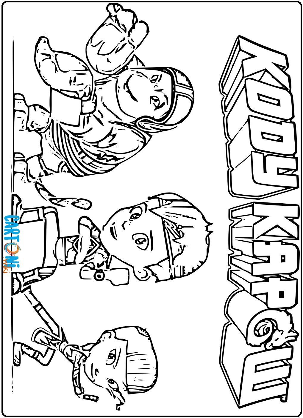 Colora Kody Kapow E Tutti Gli Altri Personaggi Del Cartone Animato