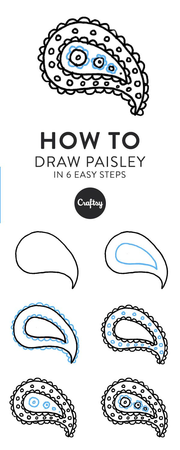 How To Draw Paisley In 6 Easy Steps Simple Designs To Draw