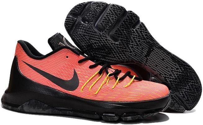 finest selection e7c25 16736 Nike KD 8 Black Orange Yellow
