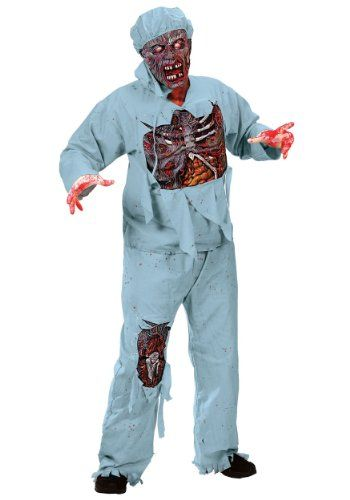 Funworld Mens Scary Bloody Zombie Doctor Undead halloween - cool halloween costume ideas for guys