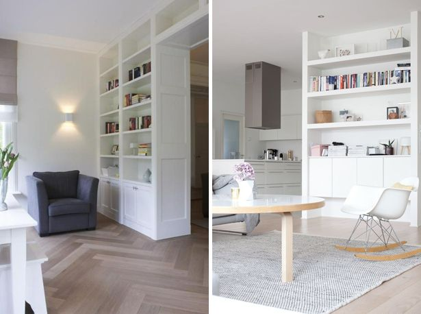 Room divider ruimte verdelen grote kamer scheiden kast ruimte besparende kamers idee n - Scheiding houten ...