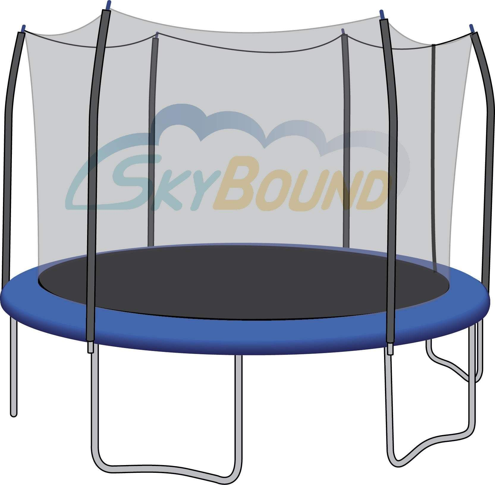 Skybound 12 foot trampoline net fits 12 foot frames with