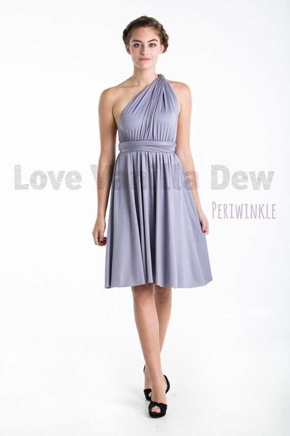 Bridesmaid Dress Infinity Dress Periwinkle Straight Hem Knee Length ...