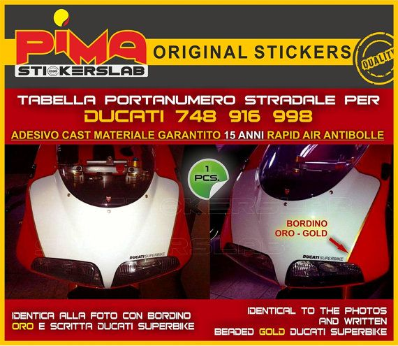 Adesivo Stickers Portanumero Ducati Di PIMAstickerslab - Ducati motorcycles stickers