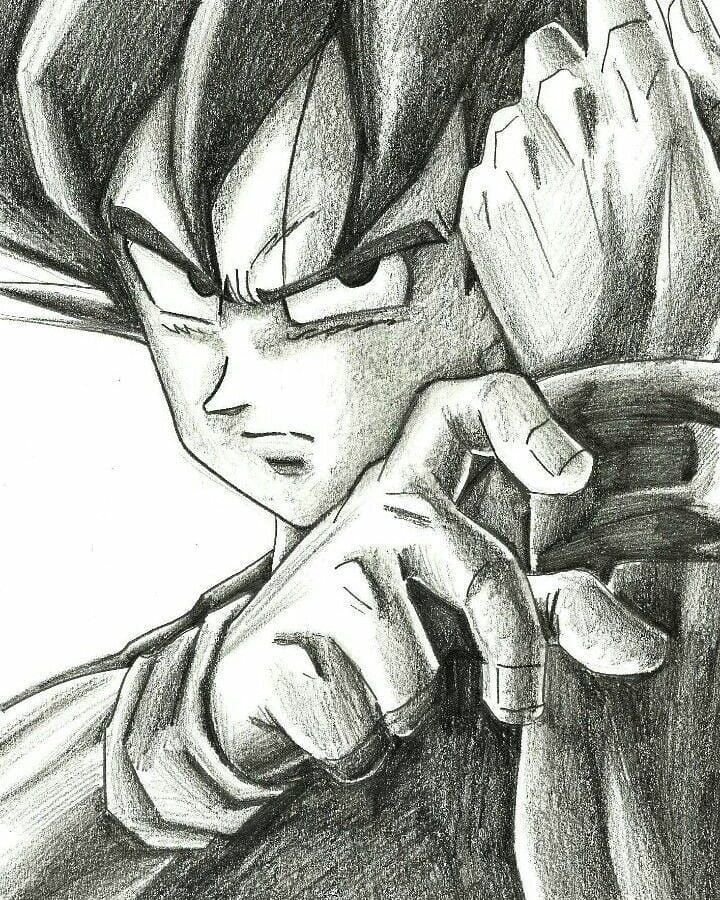 "Son Mike on Instagram: ""Son Goku💪 --------------------------------------------------------------------------- #db #dbz #dbsuper #dragonball #dragonballz…"""
