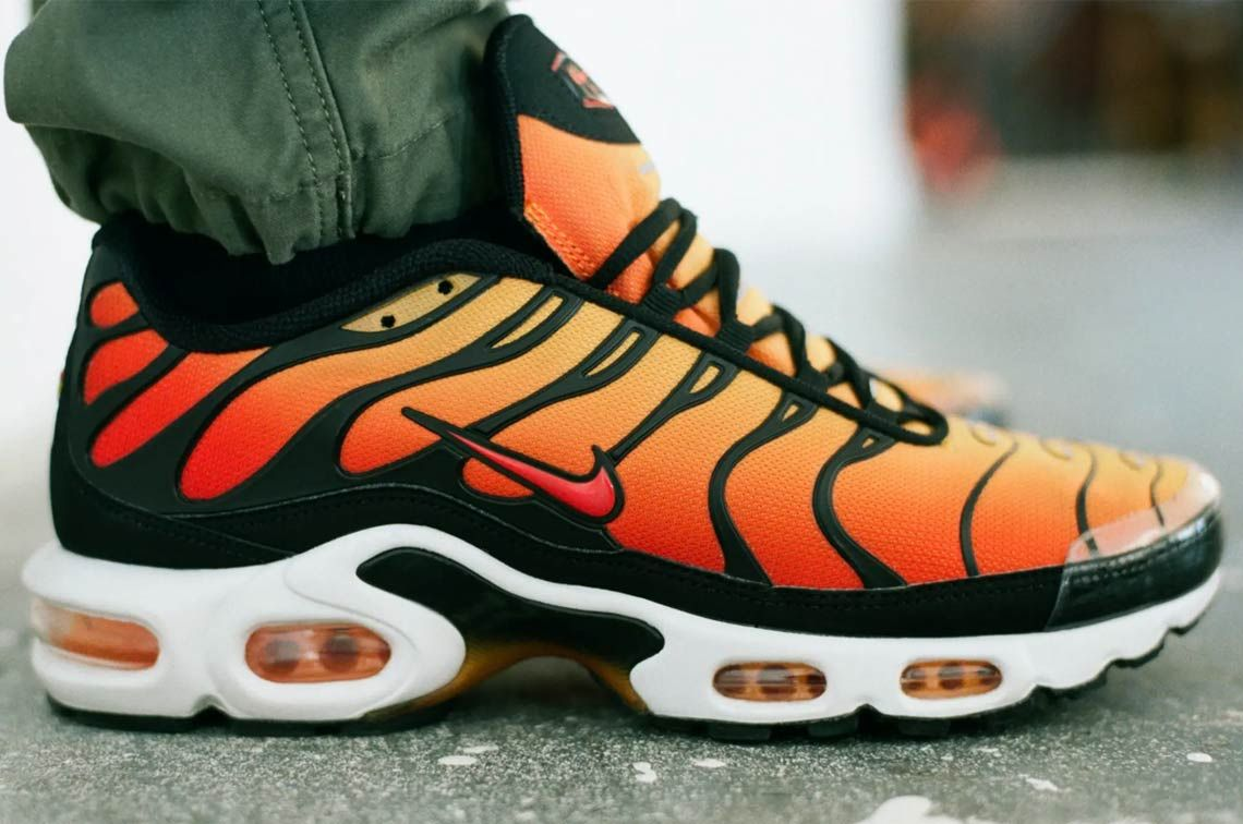 fbf0c6156c Nike Air Max Plus Sunset Release Date + Store Links | Clothing | Air ...