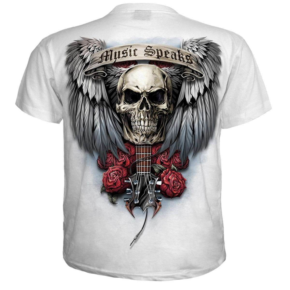 sale retailer 519c9 c6463 Spiral T-Shirt im Metal Style - Unspoken white in 2019 | T ...