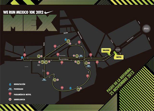 Ruta carrera Nike We Run Mexico 2012 - México DF by RunMX.com 5b18c72a7b0a6