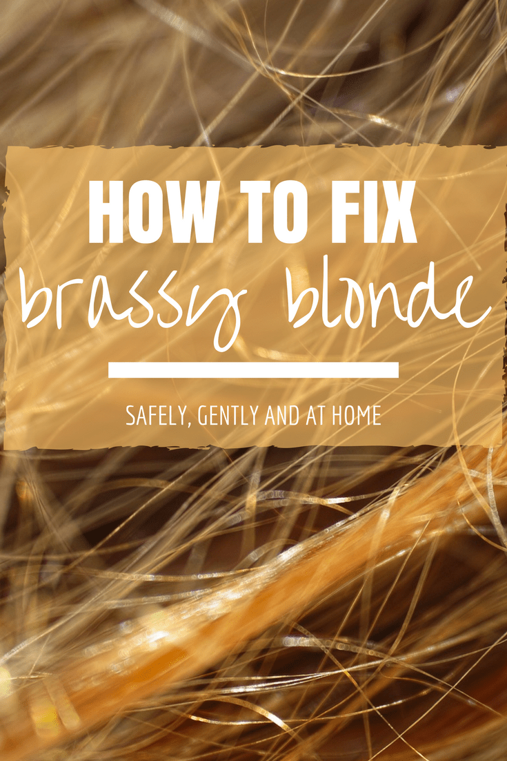 How to tone brassy blonde hair and remove orange tones in ash